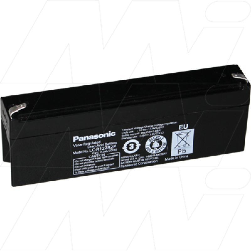 Panasonic 12V 2.2Ah Dual Purpose SLA Battery - LC-R122R2P