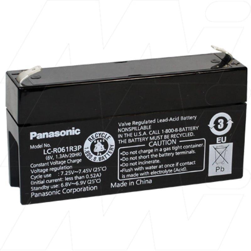 Panasonic 6V 1.3Ah Dual Purpose SLA Battery - LC-R061R3P