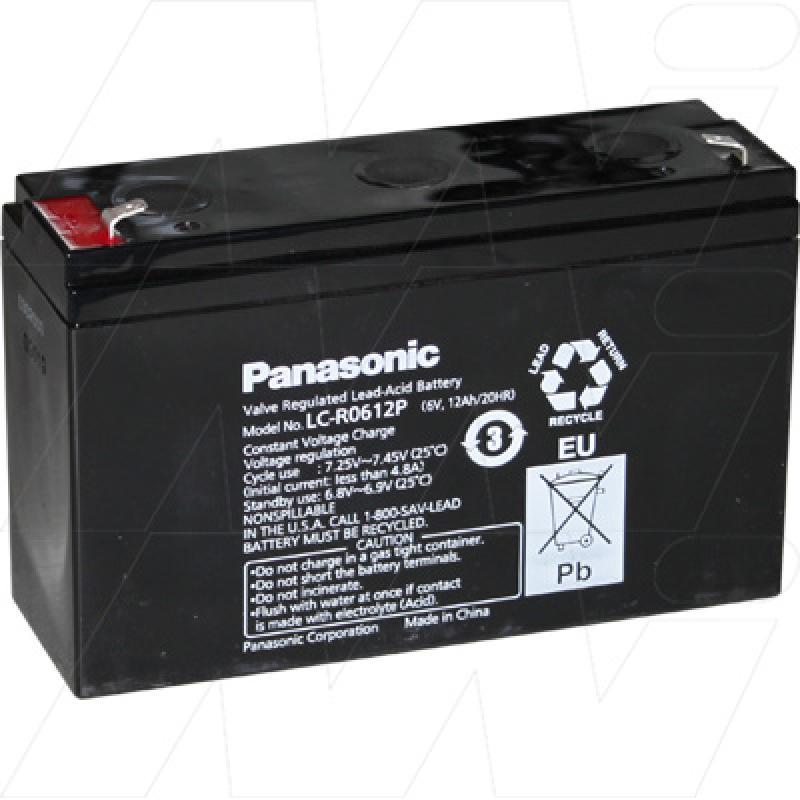 Panasonic 6V 12Ah Cyclic SLA Battery - LC-R0612P
