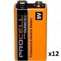 Duracell Procell 9V 12Pk - PC1604 for smoke alarms
