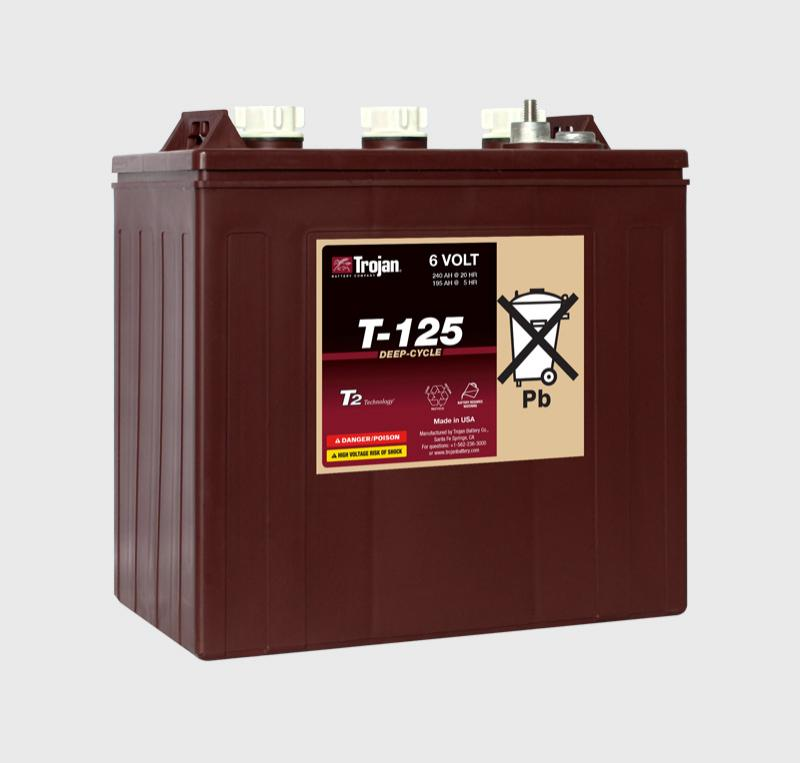 Trojan T-125, T125 6V Deep Cycle Battery