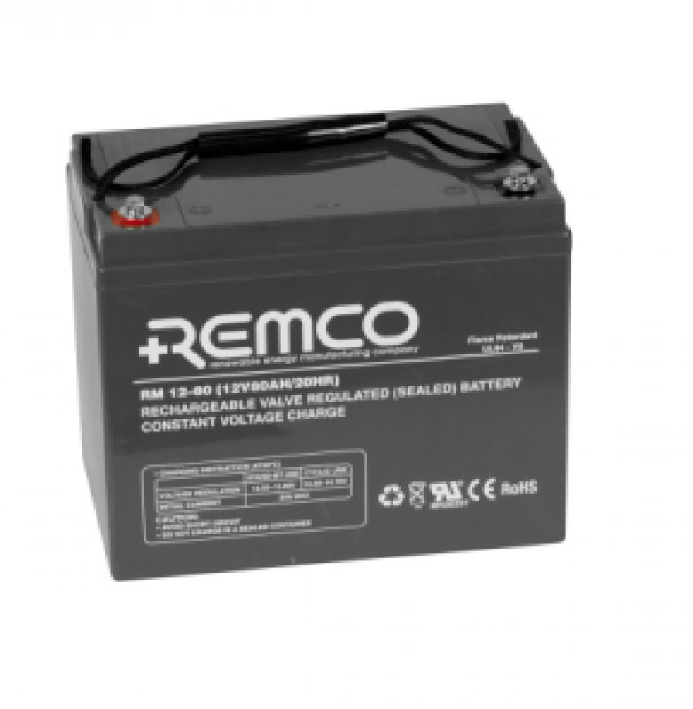 Remco 12V 80Ah Standby AGM FR