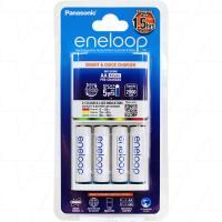 Panasonic Eneloop 4 Bank AAA/AA NiMH Charger w/4x AAs