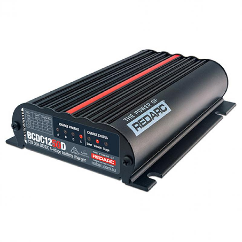 Redarc Dual Input 50A In-Vehicle DC Battery Charger BCDC1250D