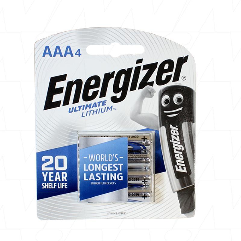 Energizer Lithium AAA 4Pk - L92-BP4