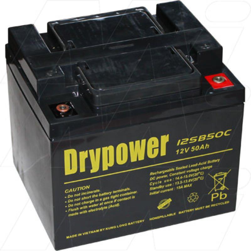 Drypower 12SB50C 12V, 50Ah Deep Cycle Battery