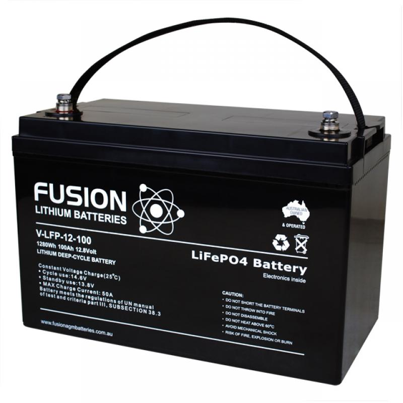 Fusion V-LFP-12-100 - Lithium Battery 12V, 100Ah
