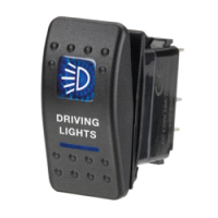 Narva 63132BL - 12 Volt Illuminated Off/On Sealed Rocker Switch with 'Driving Lights' Symbol