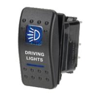 Narva 63132BL - 12 Volt Illuminated Off/On Sealed Rocker Switch with 'Driving Lights' Symbol