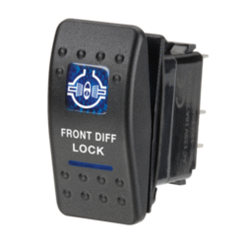 Narva 63136BL - 12 Volt Illuminated Off/On Sealed Rocker Switch with 'Front Diff Lock' Symbol