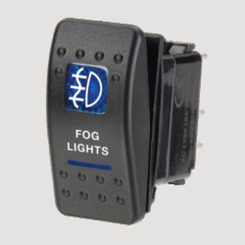 Narva 63134BL - 12 Volt Illuminated Off/On Sealed Rocker Switch with 'Fog Lights' Symbol