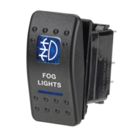 Narva 63134BL - 12 Volt Illuminated Off/On Sealed Rocker Switch with 'Fog Lights' Symbol