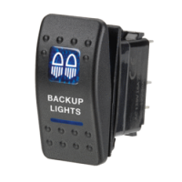 Narva 63142BL - 12 Volt Illuminated Off/On Sealed Rocker Switch with 'Backup Lights' Symbol