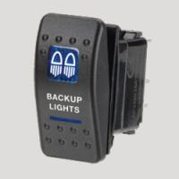 Narva 63142BL - 12 Volt Illuminated Off/On Sealed Rocker Switch with 'Backup Lights' Symbol