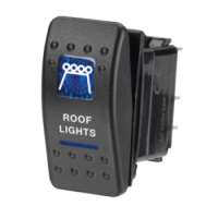Narva 63146BL - 12 Volt Illuminated Off/On Sealed Rocker Switch with 'Roof Lights' Symbol