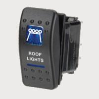 Narva 63146BL - 12 Volt Illuminated Off/On Sealed Rocker Switch with 'Roof Lights' Symbol