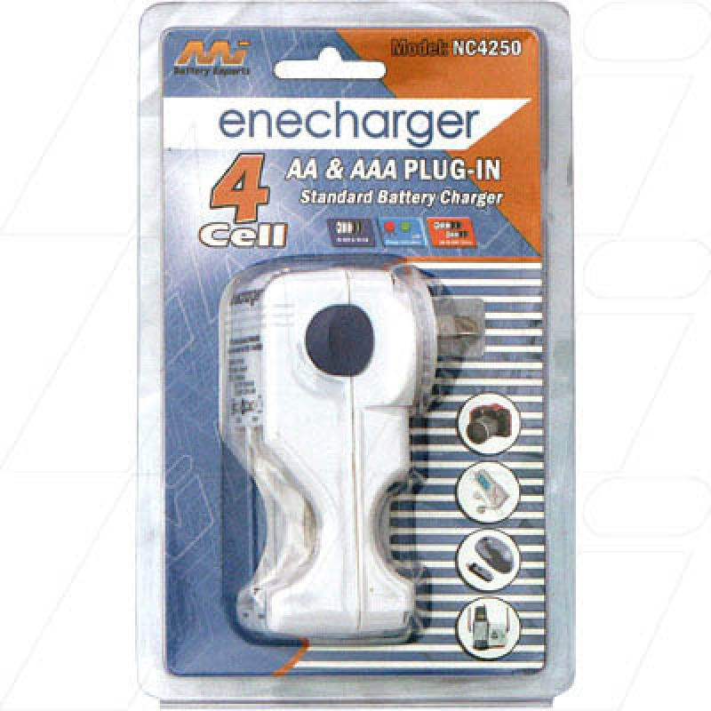 Standard Charger for 2 or 4 AA or AAA NiCd/NiMH batteries