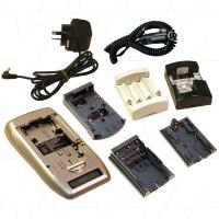Lithium Ion Video, Camcorder & Digital Camera + NiCD/NiMH AA/AAA Battery Charger