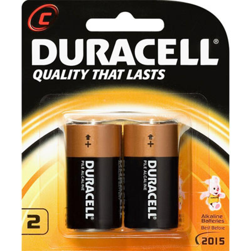 Duracell Coppertop Alkaline C, LR14 size Battery