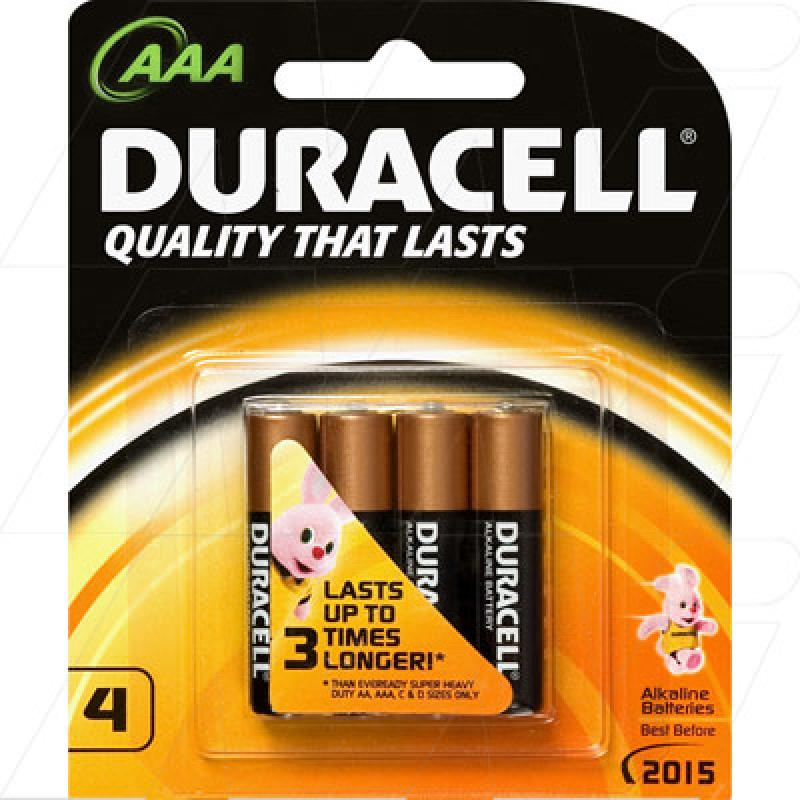 Duracell Coppertop Alkaline AAA, LR03 size Battery - 4 pack
