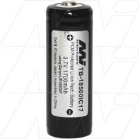 Protected 2000mAh 18500 Lithium Ion Torch Battery