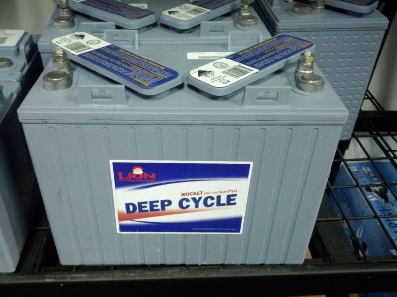Lion Batteries - 870 Deep Cycle, 12V, 150Ah - T1275 Equivalent