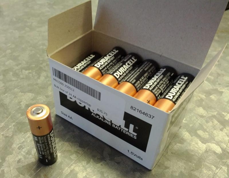 Duracell Coppertop Alkaline AA, LR6 size Battery - Box of 24