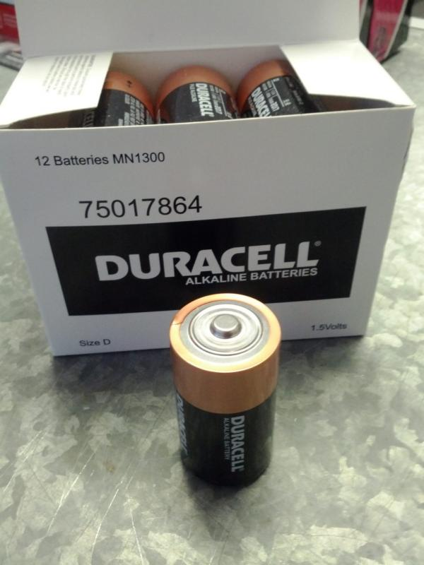 Duracell Coppertop Alkaline D, LR20 size Battery - Box of 12