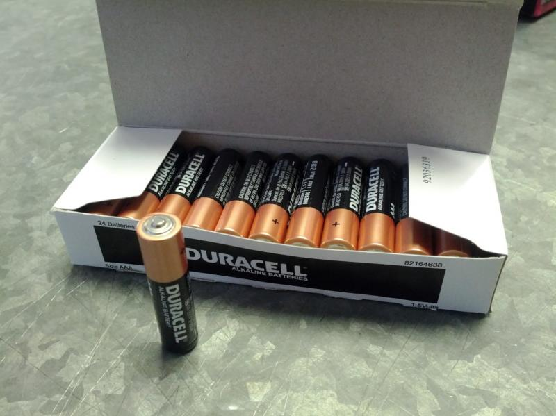 Duracell Coppertop Alkaline AAA, LR03 size Battery - Box of 24