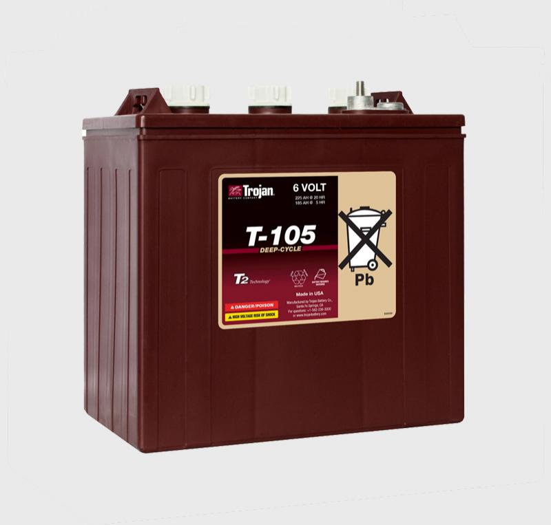 Trojan T-105, T105 6V Deep Cycle Battery