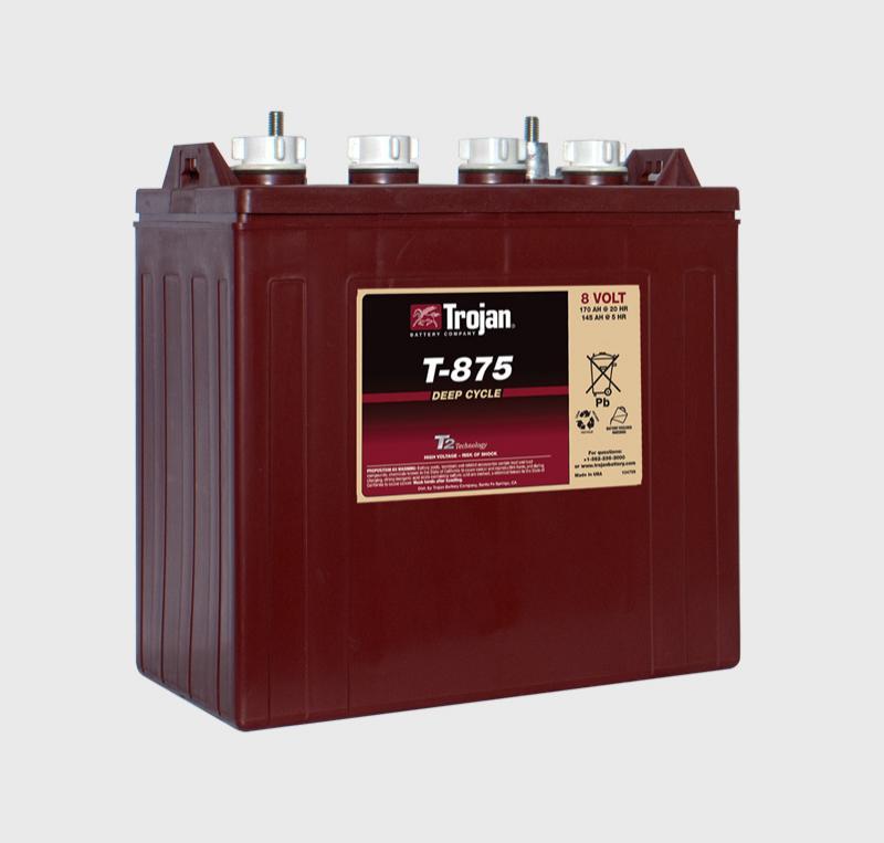 Trojan T-875 8V Deep Cycle Battery