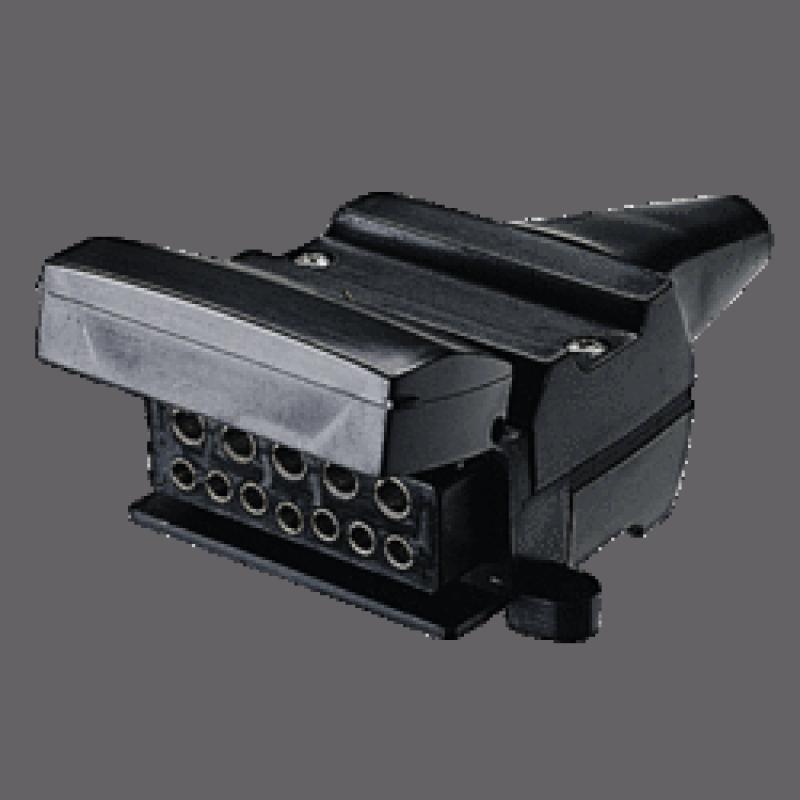 Narva - 12 Pin Flat Trailer Socket (82072BL)