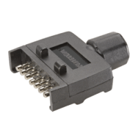 Narva - 7 Pin Flat 'Quickfit' Trailer Plug (82141BL)