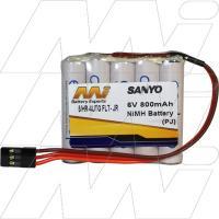 6V, 800mAh Receiver Pack (flat)