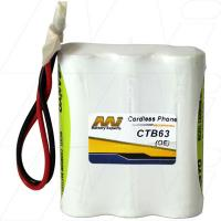 CTB63 - Cordless Phone Battery