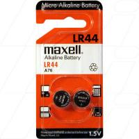 Maxell - LR44 Button Cell (Pack of 2)