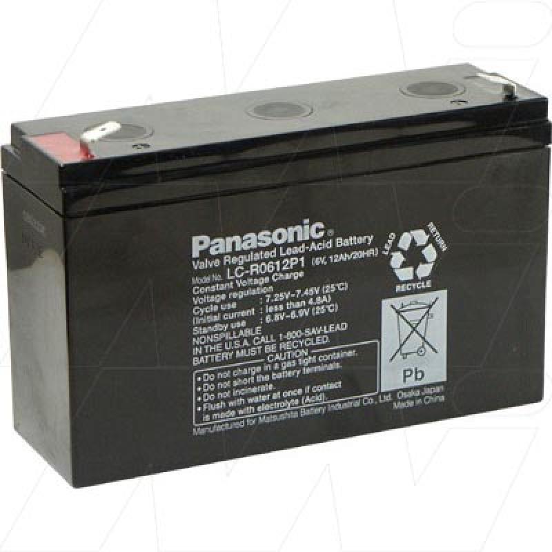 Panasonic LC-R0612P1 - Sealed Lead Acid Battery