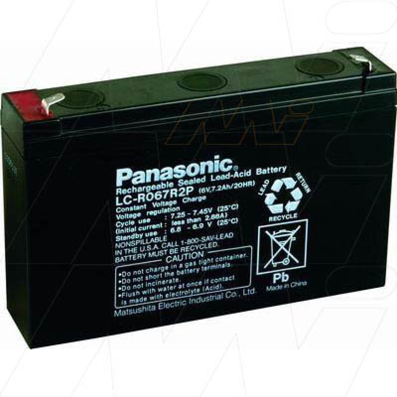 Panasonic LC-R067R2P - Sealed Lead Acid Battery