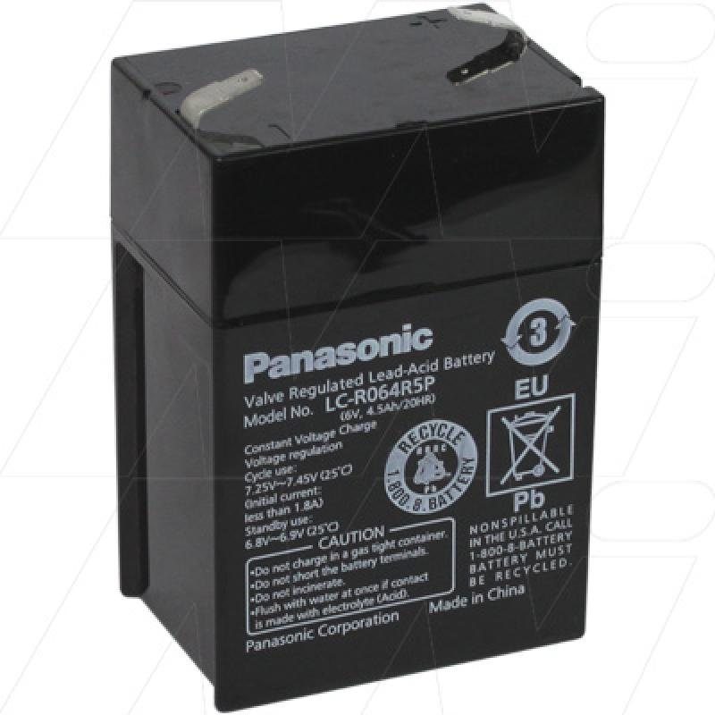 Panasonic LC-R064R5P - 6V, 4.5Ah Sealed Lead Acid Battery