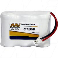 CTB58 - Cordless Phone Battery