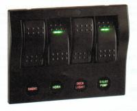 Narva 63191 - 4-Way LED Switch Panel with Circuit Breaker Protection