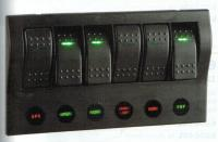 Narva 63194 - 6-Way LED Switch Panel with Circuit Breaker Protection
