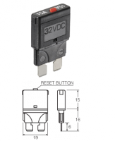 NARVA 55715 - 15A Standard Blade Fuse Circuit Breaker