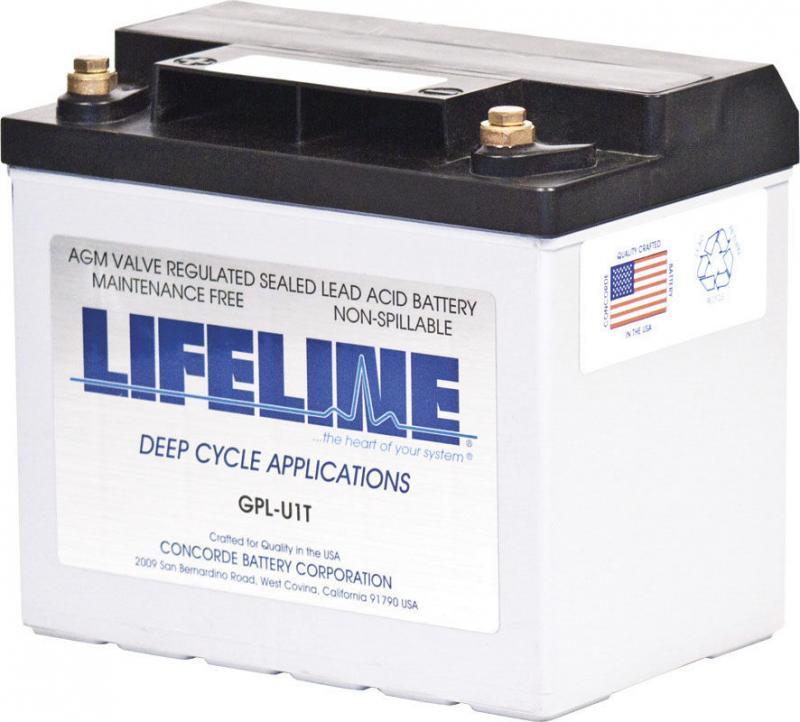 Lifeline GPL-U1T - 12V, 33Ah high performance Deep Cycle Marine/RV AGM Battery