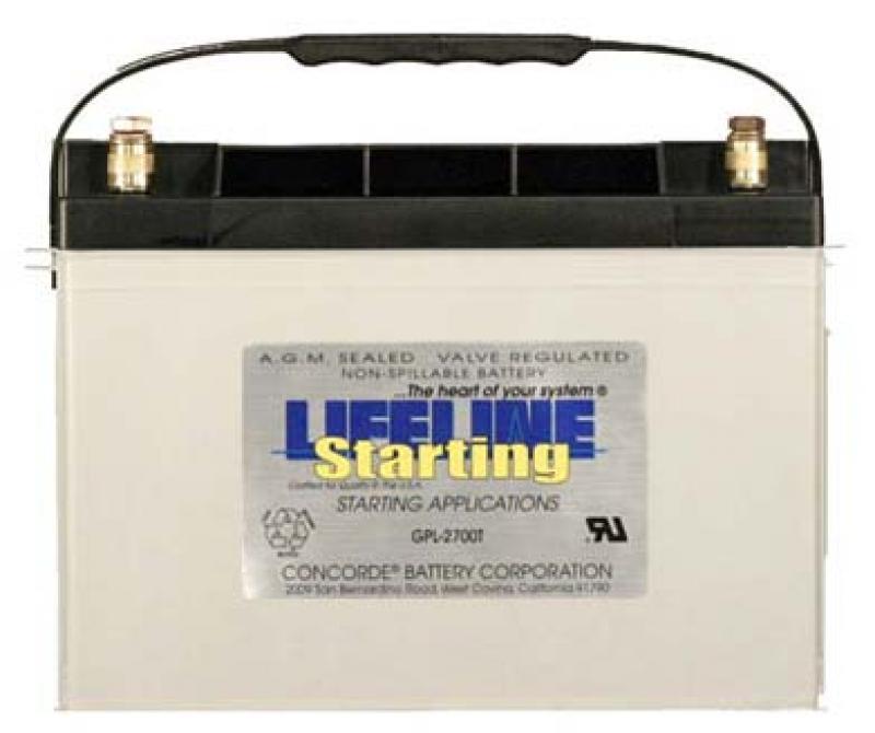 Lifeline GPL-2700T - 12V RV / Marine AGM Starting Battery