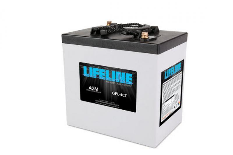 Lifeline GPL-4CT - 6V, 220Ah Deep Cycle RV / Marine AGM Battery