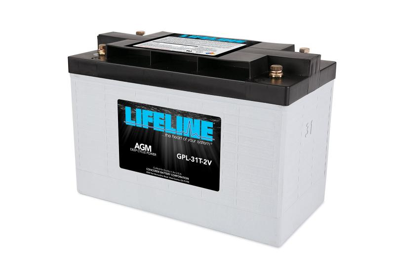 Lifeline GPL-31T - 2V, 630Ah Deep Cycle RV / Marine AGM Battery