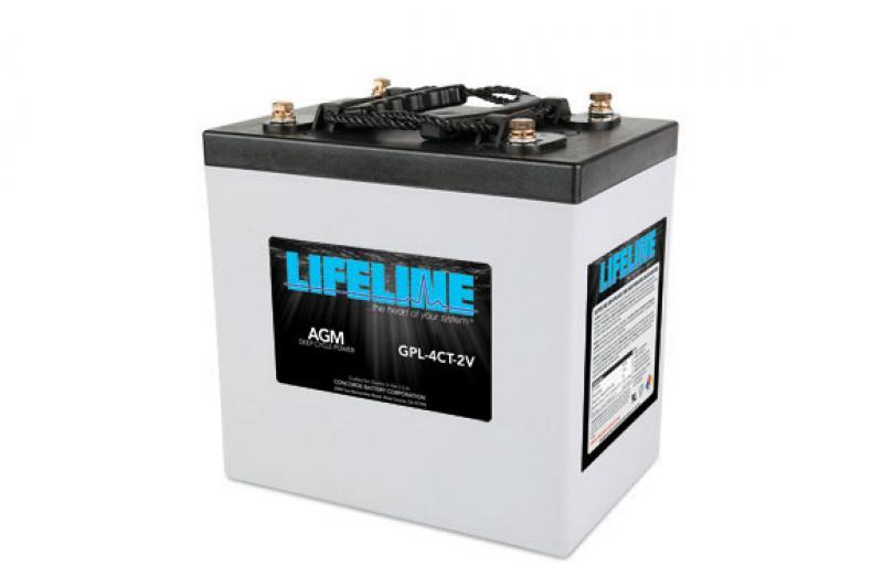 Lifeline GPL-4CT - 2V, 660Ah Deep Cycle RV / Marine AGM Battery